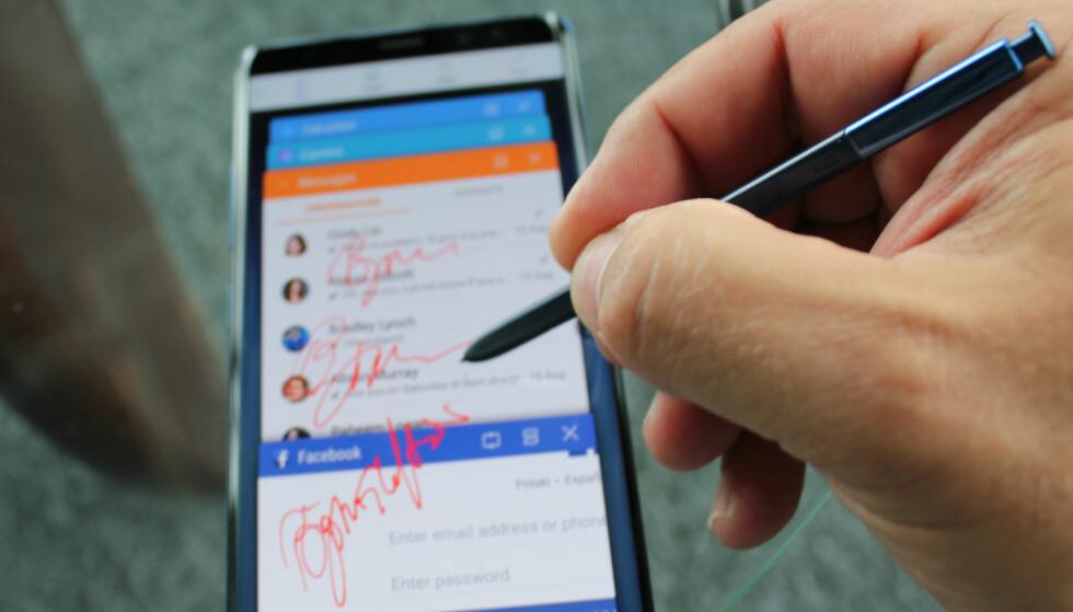 RASK OPPTEGNING: Vi begynner å nærme oss følelse og respons til vanlig penn mot papir, men fortsatt er det litt å gå på, mener vi. Foto: Bjørn Eirik Loftås