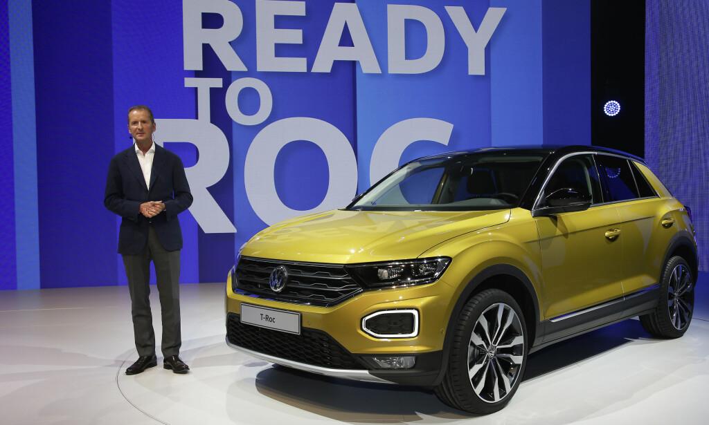 ÅRETS VIKTIGSTE: Den nye SUV-en kommer til å være ekstremt viktig for Volkswagen. Den tyske giganten satser enormt for å komme over dieselskandalen, både med elektrifisering og med modeller som er bedre tilpasset 2017-kundenes ønsker. T-Roc er definitivt det sistnevnte. Foto: VW