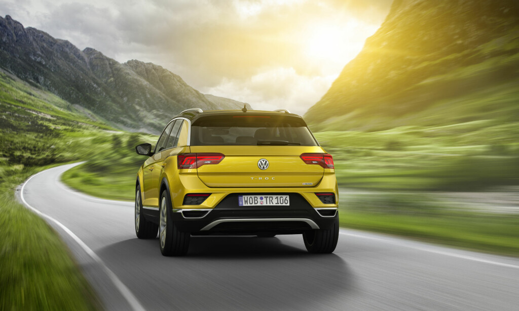 SUV-PREG: Selv om VW kaller T-Roc en Crossover er det åpenbart mot SUV-siden den heller ut fra design. Foto: VW
