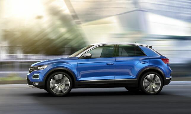 NESTEN SPRELSK: Designen sett fra siden har mer kreativ linjeføring enn vi er vant til å se på Volkswagens mainstream-produkter. Foto: VW