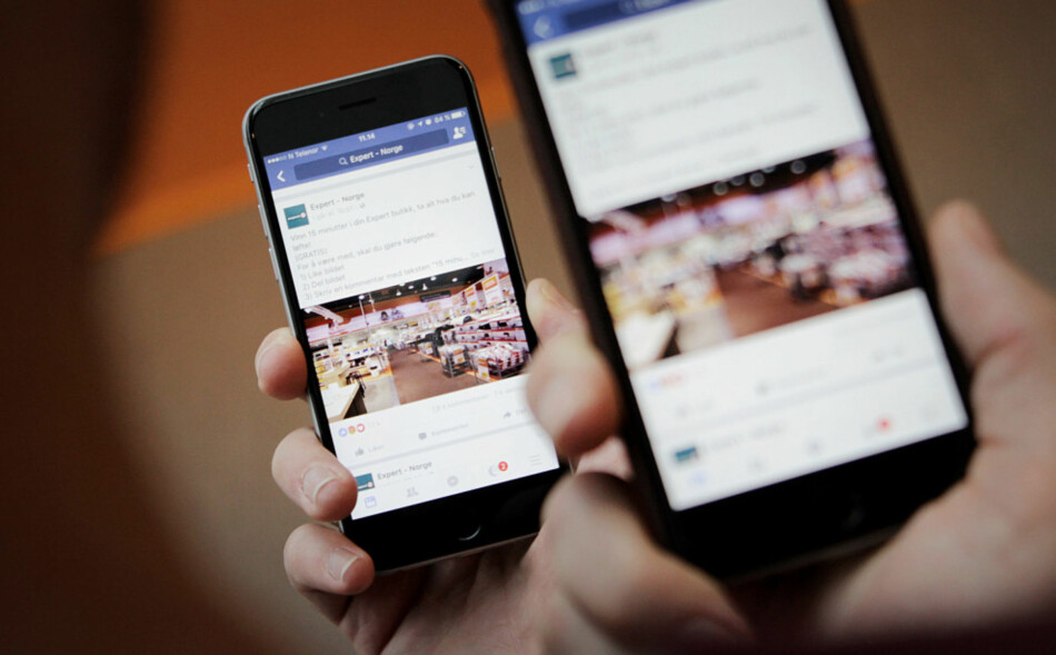 SVINDEL PÅ FACEBOOK: Svindlerne er så til de grader til stede i sosiale medier også. Hold deg oppdatert på de siste metodene. Foto: Ole Petter Baugerød Stokke.