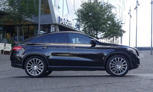 PROFILERT: Det tok en del år før Mercedes fulgte i BMWs fotspor og lagde en coupé-versjon av sin store SUV. GLE Coupé er direktekonkurrenten til BMW X6. Foto: Rune M. Nesheim