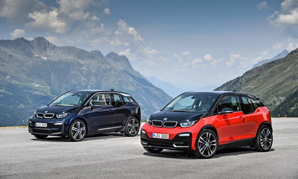 OPPGRADERER: BMW i3 er blitt stadig mer populær i Norge - særlig etter at den fikk anstendig rekkevidde. Nå oppgraderes modellen og kommer i en sportslig utgave i tillegg. Foto: BMW