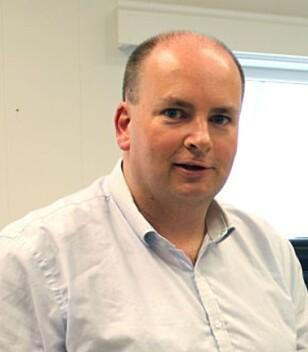 SAMARBEID: Tron Atle Løvig i Multicom sier at Talisa U230 er basert på et samarbeid Åmli-bedriften har med Microsoft og Intel. Foto: Bjørn Eirik Loftås