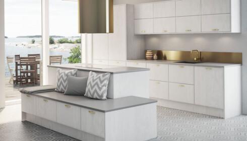 UTSEENDET ER VIKTIG MEN...: Tenk først på hva slags type bruk du kommer til å utsette kjøkkenbenken for, råder ekspertene. Foto: Norema.