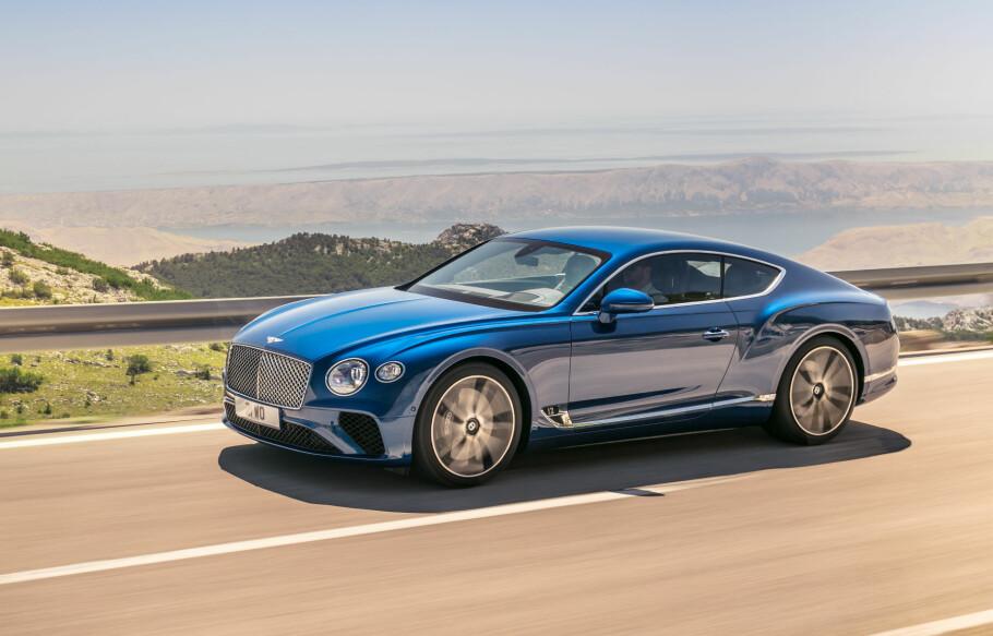 NY BENTLEY CONTINENTAL GT: Trolig vil bilen bli minst 200.000 kroner billigere. Men det er ingen importør av Bentley i Norge. Så da må veien gå via en distributør, om du vil ha luksusbilen over fra Storbritannia. Foto: Bentley