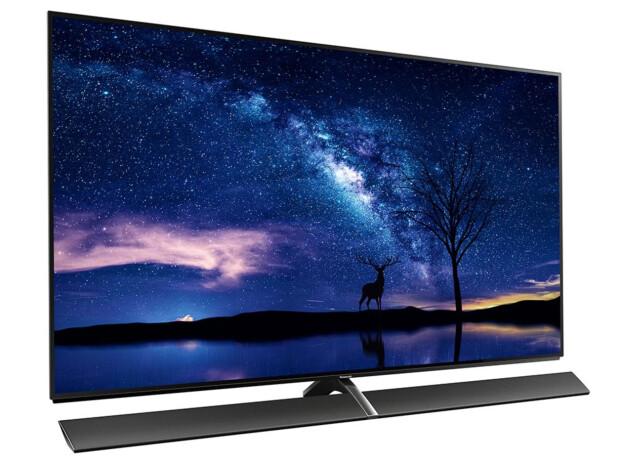<strong>DYR SAK:</strong> En 77-tommers OLED-TV fra Panasonic koster rundt 200.000 kroner; omtrent tre ganger som 65-tommersutgaven avbildet. Foto: Panasonic