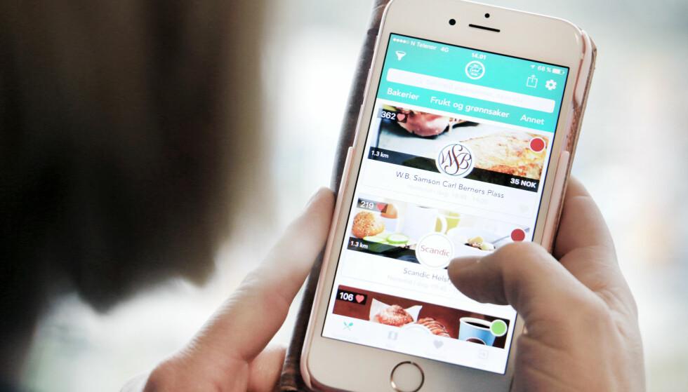 RIMELIG MAT: Med appen Too good to go får du mat for en billig penge. Det kan også bli noen overraskelser. Foto: Ole Petter Baugerød Stokke