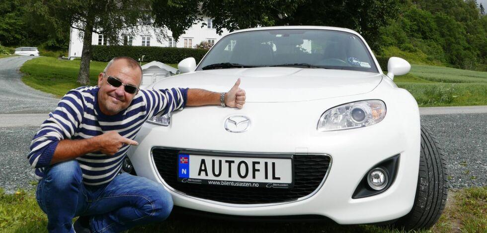 image: Disse har skaffet nye registreringsskilt på bilen