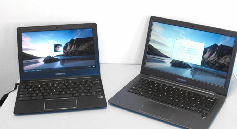 ENKELT OG BILLIG: Chromebooks er ofte lette maskiner med enkel maskinvare, med prislapper på rundt 2-3.000 kroner. Foto: Bjørn Eirik Loftås