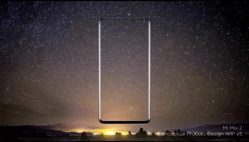 <strong>DAGEN FØR DAGEN:</strong> Xiaomi skal vise frem Mi Mix 2 dagen før Apple viser frem nye iPhone. Foto: Philippe Starck/Facebook