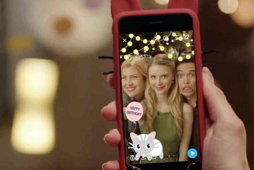 LAG SELV: Nå kan nordmenn lage personlige geofiltre til Snapchat. Foto: Snap Inc.
