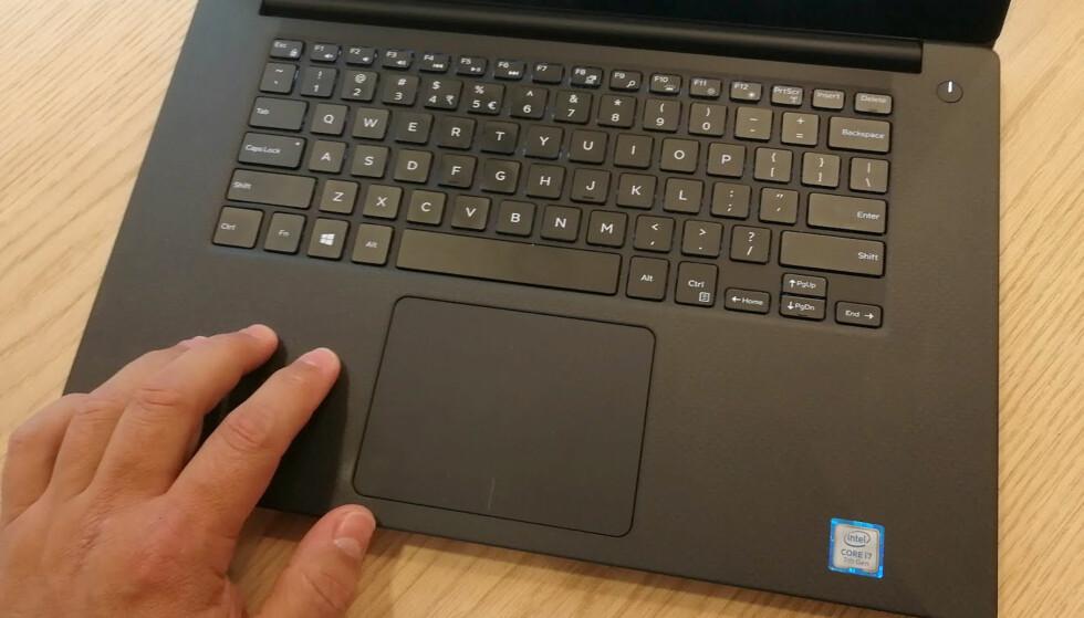 GODT TASTATUR: Tastaturet innbyr til lange skriveøkter. Det er også ganske støysvakt. Foto: Bjørn Eirik Loftås