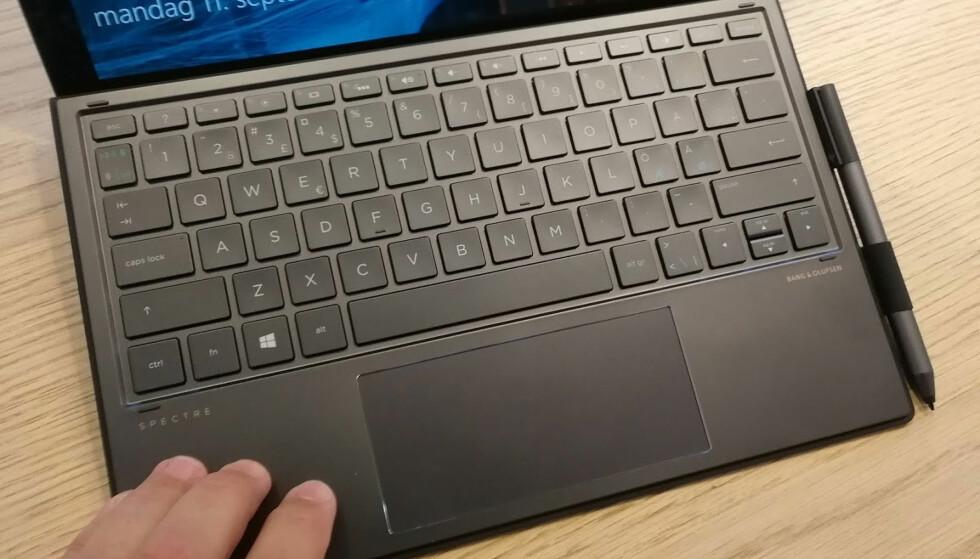 IKKE VERST: Det er fullt mulig med lange skriveøkter på dette tastaturet. Foto: Bjørn Eirik Loftås