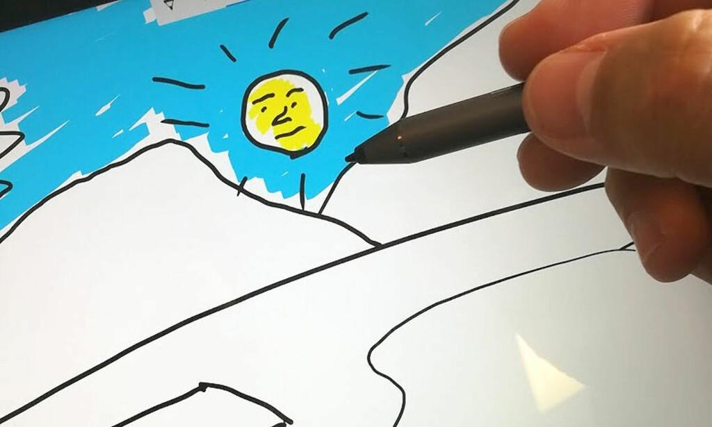 KREATIVT: Det følger med programvare til skribleriene dine. Foto: Bjørn Eirik Loftås