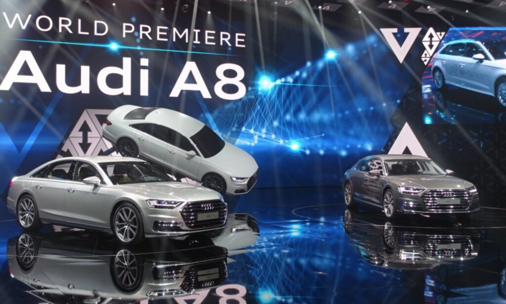 Flaggskipet: Audi A8 vises i helt ny generasjon. Foto: Audi