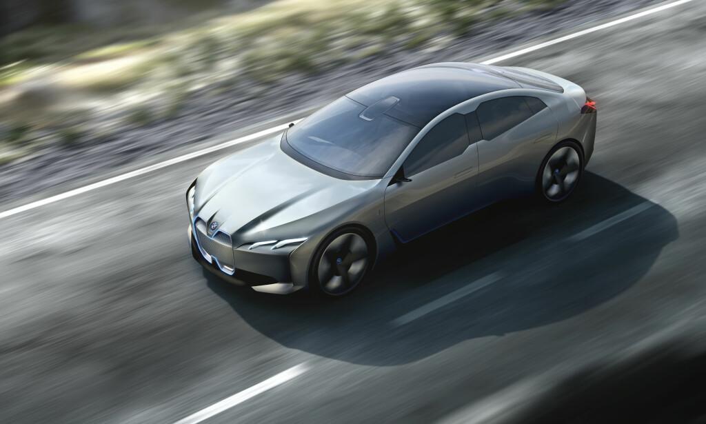 AERODYNAMIKK: Store glassflater og glatte karosseriflater preger designen på i Vision Dynamics. Foto: BMW