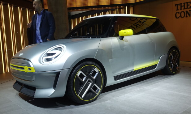 <strong>MINI:</strong> Slik ønsker Mini å skille de elektriske kjøretøyene fra øvrig program. Foto: Rune M. Nesheim