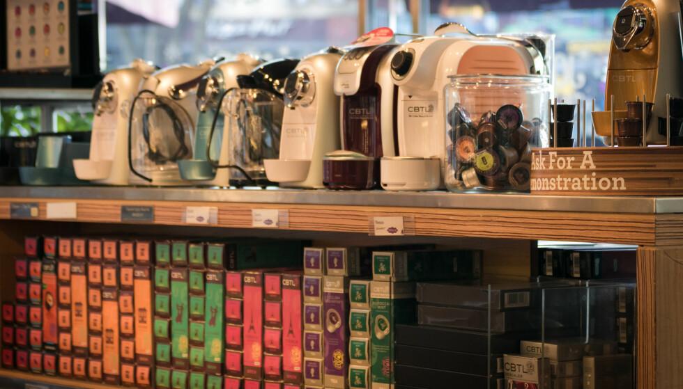 KREVENDE KAFFE: Den tradisjonelle kaffekjelen har for lengst blitt erstattet av effektkrevende maskiner, og NVE mener at disse er med på å øke nettleien for norske husholdninger. Foto: Stratman.