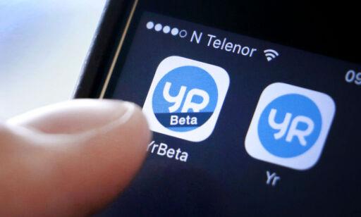 image: Se hvordan du snart skal lese været i Yr-appen
