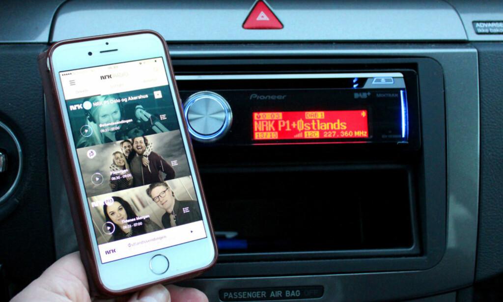 MINST LIKE BRA: Nettradio via mobilen er et godt alternativ til DAB+-radiop. Det mener både Dinside og NAF. Foto: Bjørn Eirik Loftås