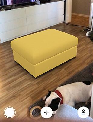 NY PUFF? Nå kan du sjekke hvordan IKEA-møbler vil ta seg ut i stua di. Foto: Pål Joakim Pollen
