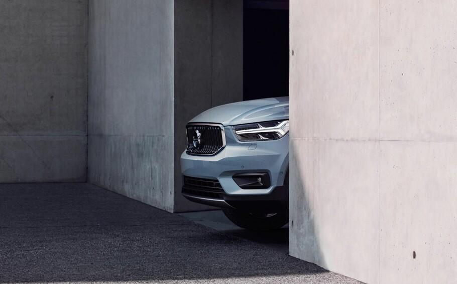 ÅRETS BIL I EUROPA? Nykommeren Volvo XC40 er blant de sju finalistene i European Car of the Year 2018. Foto: Produsenten
