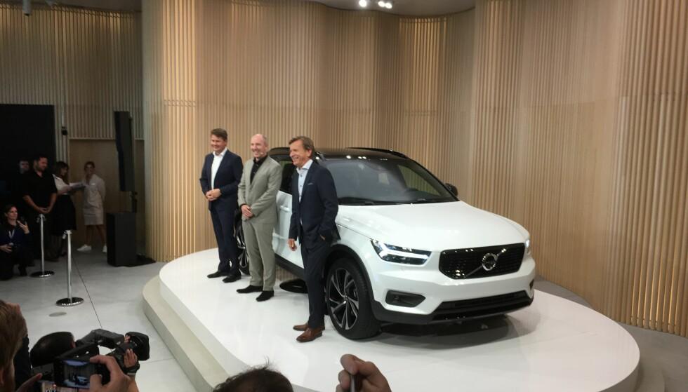 NYTT SPRANG: Det er en viktig, ny utvidelse av Volvos nye generasjon biler når den kompakte SUV-en XC40 i dag er avduket i Milano. Foto: Knut Moberg