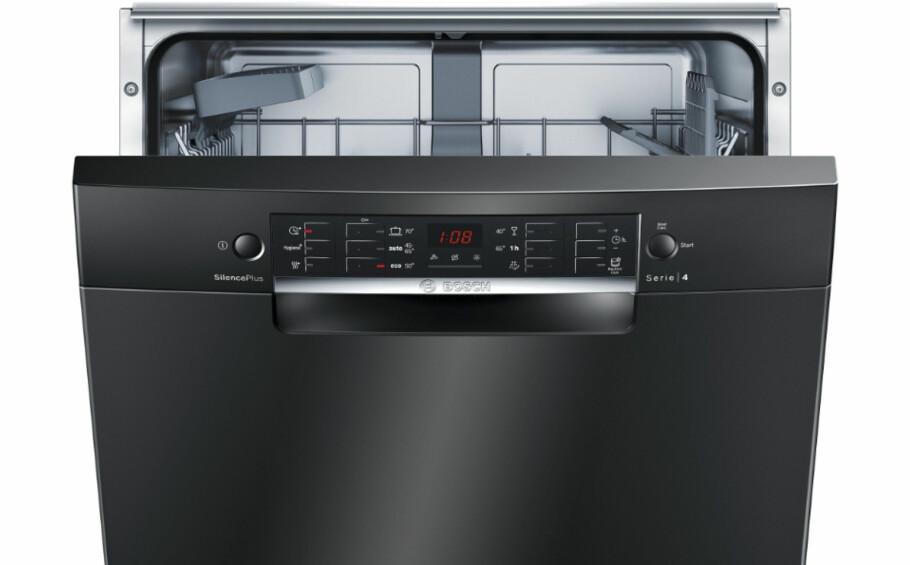BEST I TEST: Bosch SMU46CB01S selges i Norge for 5.295 kroner. Den er en suveren kvalitetsvinner sammen med flere av sine «brødre» i en fersk test av hele 75 modeller foretatt av svenske Råd&Rön. Foto: Bosch/Elkjøp