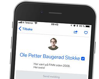 SJEKK SELGEREN: På Finn-annonsene kan du se om selgeren er verifisert, og hvor lenge han har vært der. Dette er ingen garanti, men kan styrke en eventuell mistanke om svindel. Foto: Ole Petter Baugerød Stokke