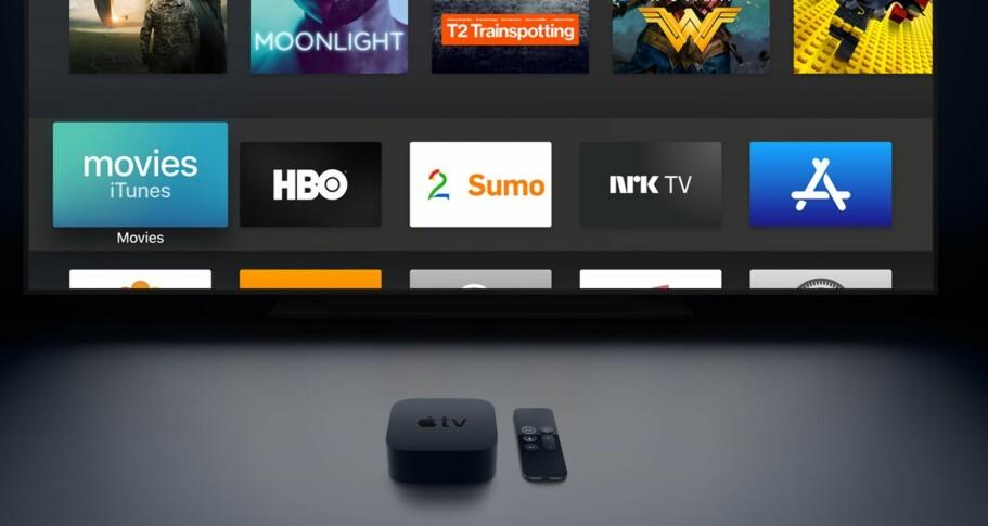 STØTTER 4K: Nye Apple TV har 4K-støtte, men lar deg ikke se 4K-filmer fra iTunes om nettlinjen din er for treg. Foto: Apple