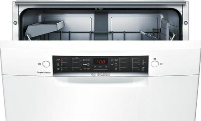 VASKEMESTER: Bosch SMU46CW02S til 4.550 kroner har i likhet med de andre Bosch-modellene i toppen fått 9 i vaskeegenskaper. Foto: Bosch