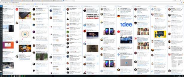 MASSE INFO: Takket være ultrabred Tweetdeck, har vi full oversikt over alle interessefeltene våre på Twitter. Skjermdump: Bjørn Eirik Loftås