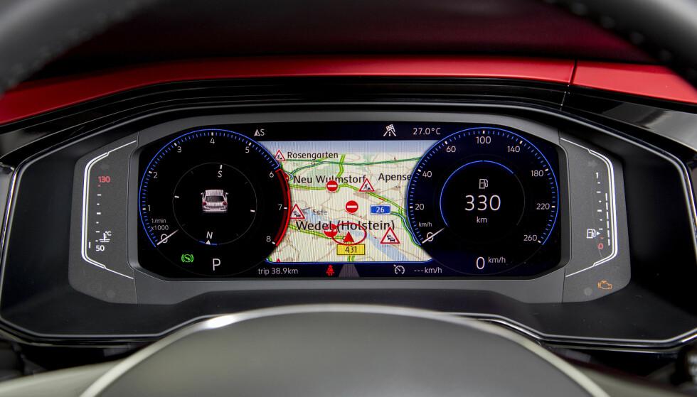HELDIGITALT: Som ekstrautstyr kan Polo nå utstyres med Active Infodisplay, som kan konfigureres etter ønske. Foto: VW