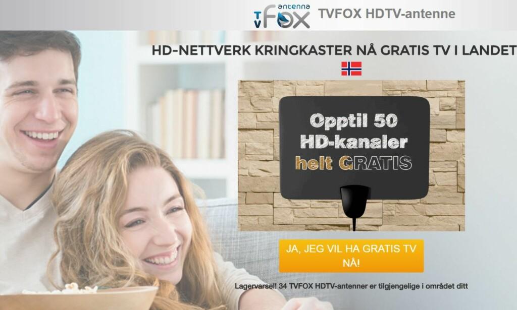 PÅ NORSK: Det er ingen tvil om at TVFox henvender seg til nordmenn. Foto: TVFox