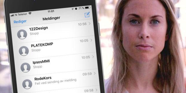 image: Slik stopper du SMS-reklame