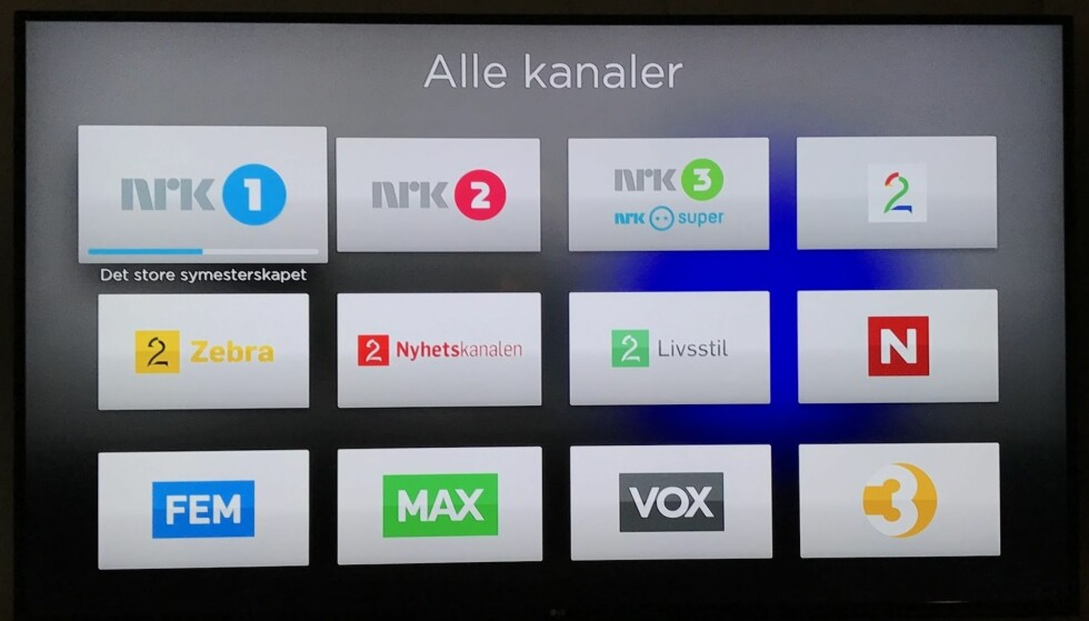 <strong>CANAL DIGITAL:</strong> Er du kunde av Canal Digital Satellitt, kan du boltre deg med over 50 kanaler - rett fra internett, via Apple TV. Foto: Bjørn Eirik Loftås