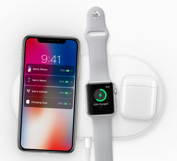 NESTE ÅR: Apple kommer med en trådløs ladeplate neste år som kan lade inntil tre enheter samtidig. Foto: Apple