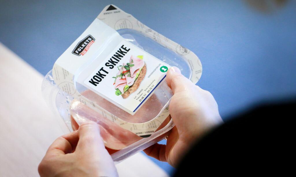 TETT: SKinkeproduktene hadde jevnt over bedre emballasje enn de andre påleggstypene. Foto: Ole Petter Baugerød Stokke