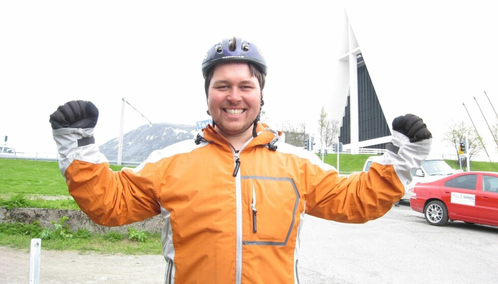 JEG KLARTE DET: Etter 22 dager var jeg endelig framme i Tromsdalen. For en opplevelse det hadde vært! Foto: TV2