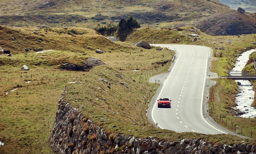 FIKK KJØRT SEG: Dinside kjørte Lexus LC500 fra Milano i Italia til München i Tyskland. Foto: Lexus