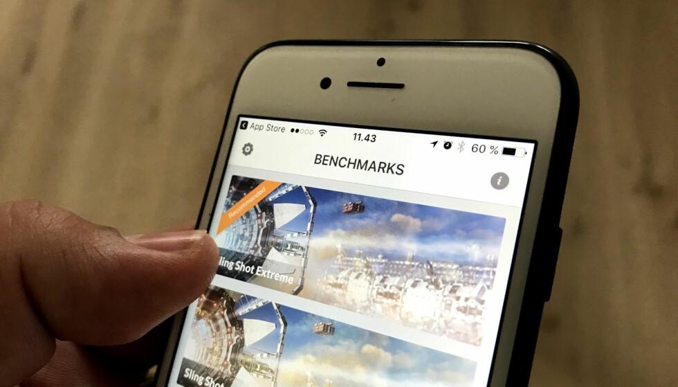 FRIKJENNER APPLE: Futuremark, selskapet bak ytelsestester som 3DMark og PCMark, tilbakeviser påstanden om at Apple bevisst gjør gamle iPhones tregere med tiden. Foto: Bjørn Eirik Loftås