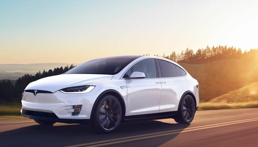 Taper: Tesla Model X er den store taperen etter Regjeringens forslag til Statsbudsjett. Foto: Tesla
