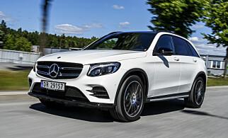 ETTERSPURT: Mercedes-Benz GLC som ladbar hybrid er populær - men hadde problemer med å nå ut til kundene i januar, noe som forsterket nedgangen for Mercedes. Foto: Jamieson Pothecary