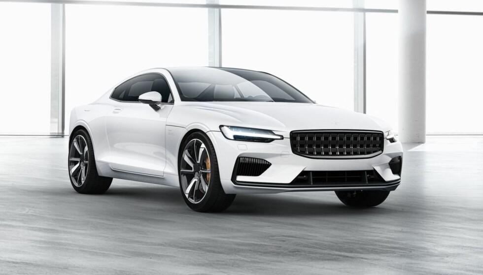 CAR OF THE YEAR 2019? Polestar 1 er tydelig en Volvo, men den heter Polestar. Nå kan den bli Car of the Year i Europa 2019. Foto: Polestar