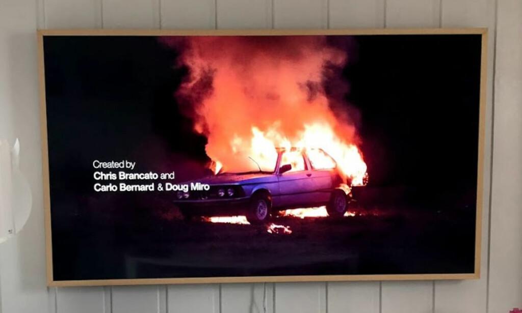 GODT SORTNIVÅ: TV-en klarer kombinasjonen mørke og lyse partier meget godt, uten for mye bleeding og at detaljer i mørke partier forsvinner. Foto: Bjørn Eirik Loftås