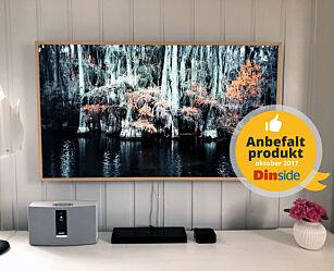 image: TV-en som ser ut som et bilde på veggen når du ikke bruker den