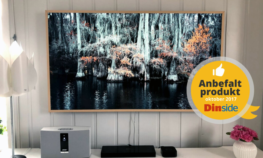 KUNSTVERK: Hva om TV-en kunne se ut som et bilde når den ikke var i bruk? Voila - her er The Frame. Foto: Bjørn Eirik Loftås