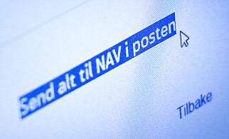 BEKLAGER POST: Nav beklager at man må sende klager på vedtak per post, slik du instrueres til på Nav.no. Foto: Ole Petter Baugerød Stokke
