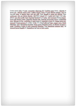 1.000 TEGN: Her ser du nøyaktig 1.000 tegn i vanlig 12-punktskrift, som fyller et kvart A4-ark. Foto: Ole Petter Baugerød Stokke